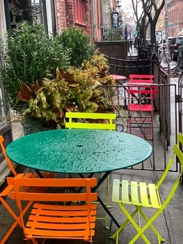 East Village Cafe in the Rain