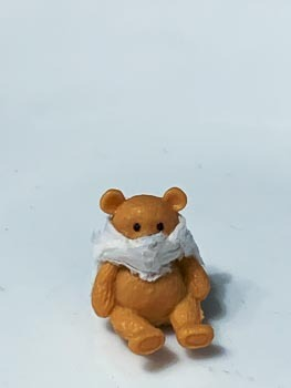 Tiny Toy Teddy Preps for Going Outside