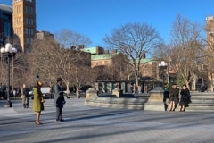 Old Timey Filming in Washington Square Park
