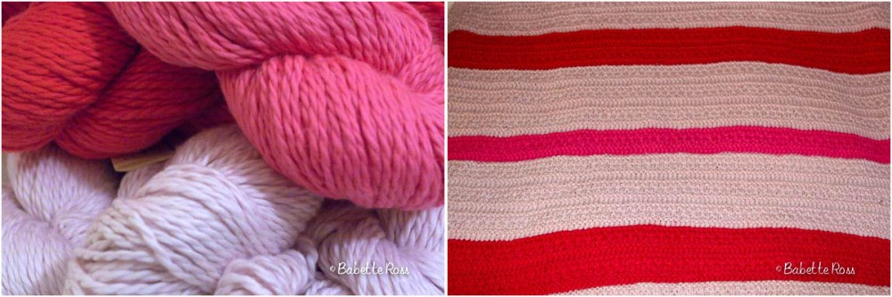 """<a href=""""http://www.ravelry.com/patterns/library/three-piece-baby-set-blanket"""">Baby Blanket</a>knit"""
