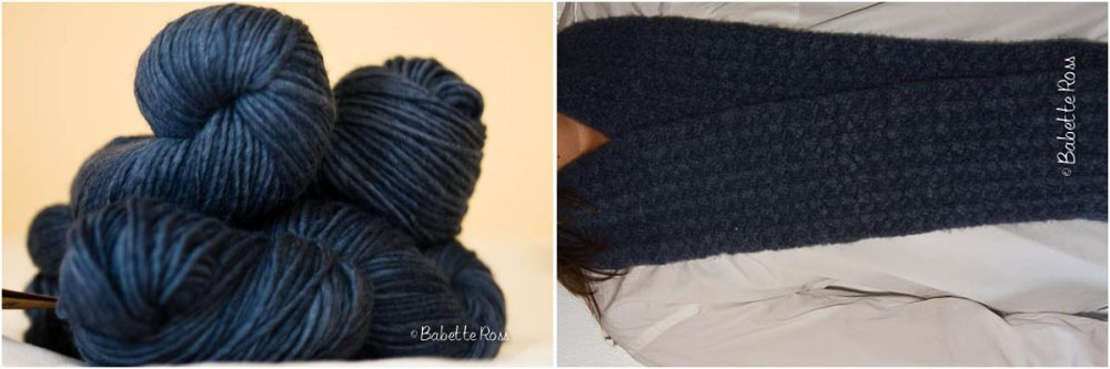 """<a href=""""http://www.ravelry.com/projects/babetter/shifting-sands-scarf"""">Scarf</a>"""