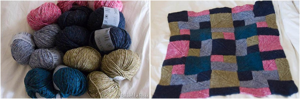 """<a href=""""http://www.ravelry.com/projects/babetter/rambling-rows-afghan-2"""">Baby Blanket</a>"""