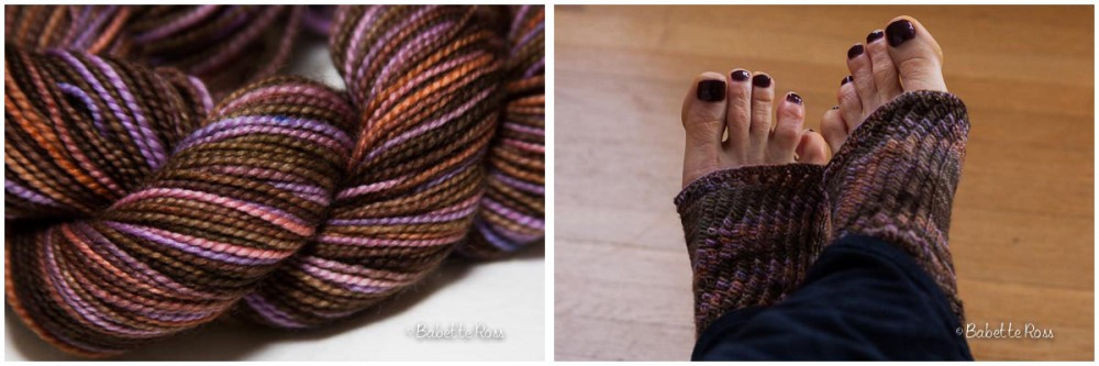 "<a href=""http://www.ravelry.com/projects/babetter/nearly-socks"">Toeless Pedicure Socks</a>"