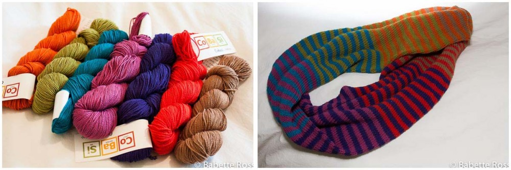 """<a href=""""""""http://www.ravelry.com/projects/babetter/rayures"""""""">Striped Infinity Scarf</a>"""