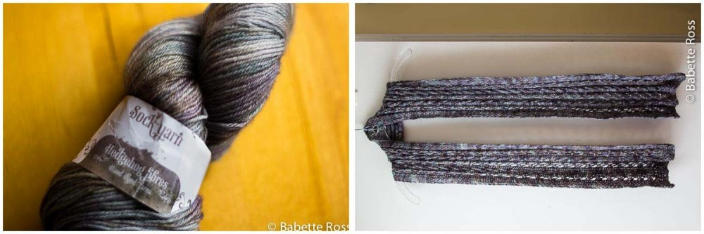 """<a href=""""http://www.ravelry.com/projects/babetter/sojourn-falls-scarf"""">Sojurn Falls Scarf</a>"""