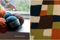 """<a href=""""http://www.ravelry.com/projects/babetter/rambling-rows-afghan"""">Baby Blanket</a>"""
