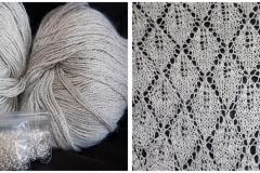 "<a href=""http://www.ravelry.com/projects/babetter/may-morning-shawl"">Grey Beaded Shawl</a>"