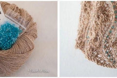 "<a href=""http://www.ravelry.com/projects/babetter/beaded-lace-scarf-ii"">Beige Beaded Scarf</a>"