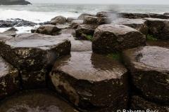 Giant's Causeway, Splotches = Sideways Rain