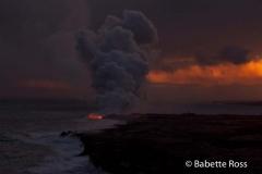 Volcanos National Park Lava Flow into Ocean
