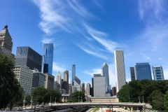 Blue Skies over Chicago