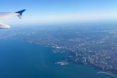 Flying over Chicago