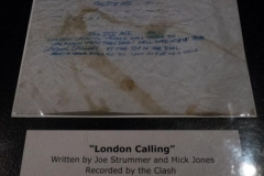 Roll Hall of Fame Museum - Clash London Calling Lyrics