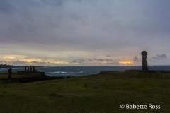 Ahu Ko Te Riku, Ahu Tahai, Sunset
