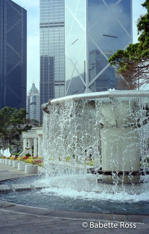 Hong Kong Park, China Fountain, I.M. Pei Bulding 1999-10-04