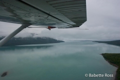 Flying from King Salmon to Katmai