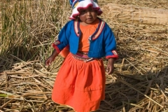 Uros Girl in Traditional Dress