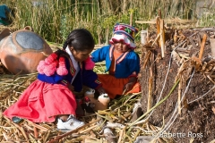 Uros Kids in Traditional Dress