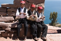 Taquile Boys Knitting