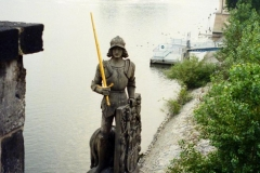 Statue of Roland, below St. Charles Bridge 1996-09-27