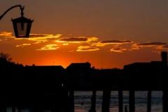San Marco Mooring Poles at Sunrise
