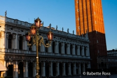 Campanile at sunrise in Piazza San Marco
