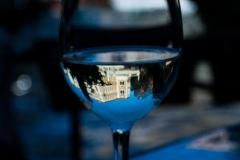 Palazzo Cavalli-Franchetti reflected in my wine